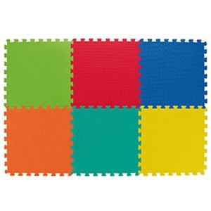 Podložka dětská Spartan 46 x 46 x 1,2 cm mix barev-sada 6ks